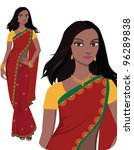 beautiful indian young woman in ... | Shutterstock .eps vector #96289838