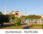 a view of Santa Sofia in Istanbul - stock photo