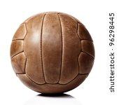 Vintage Football Ball On White...