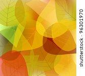 the  leaves on a light... | Shutterstock .eps vector #96301970