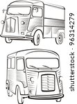 cult old van   old school... | Shutterstock .eps vector #96314279