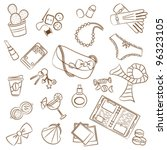 cute doodle with differents... | Shutterstock .eps vector #96323105