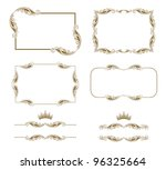 vector set of decorative... | Shutterstock .eps vector #96325664