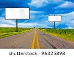 billboard on country road | Shutterstock . vector #96325898