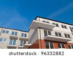 New apartment over blue sky - stock photo