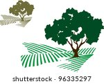 Vector Illustration Of A Tree...