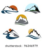 Mountains And Landscape Emblem...