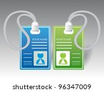 name tag set in editable vector | Shutterstock .eps vector #96347009