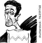cartoon sketch caricature... | Shutterstock . vector #96359768