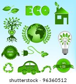 eco icons set | Shutterstock .eps vector #96360512