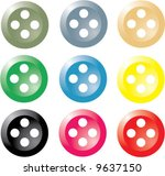 a set of vector sewing buttons