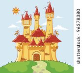 magic castle | Shutterstock .eps vector #96378380