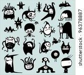funny monsters | Shutterstock .eps vector #96378887