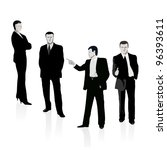 group of four business people | Shutterstock .eps vector #96393611