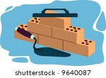 a brick laying activity in... | Shutterstock .eps vector #9640087