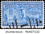 usa   circa 1944  a stamp... | Shutterstock . vector #96407132