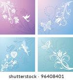 set of floral patterns.