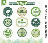 eco and bio labels collection | Shutterstock .eps vector #96410948