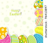 template easter greeting card ... | Shutterstock .eps vector #96413897