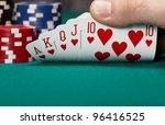 royal flush   Shutterstock . vector #96416525