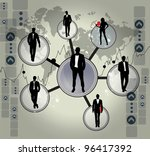 company structure | Shutterstock .eps vector #96417392