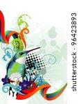 exotic bird abstract vector | Shutterstock .eps vector #96423893