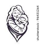 mother and child | Shutterstock .eps vector #96431264