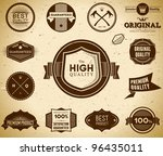 set of vintage premium quality... | Shutterstock .eps vector #96435011