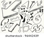 a hand drawn arrows set | Shutterstock .eps vector #96442439