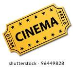 one single cinema ticket.... | Shutterstock .eps vector #96449828