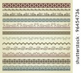 set of vintage borders. could... | Shutterstock .eps vector #96454736
