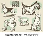 Vintage Dogs Classic Retro...