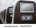 economy class seats with... | Shutterstock . vector #96459551