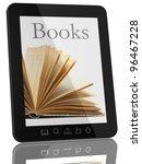 book and generic teblet... | Shutterstock . vector #96467228