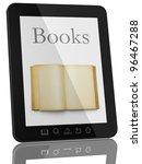book and generic teblet... | Shutterstock . vector #96467288