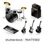 vector icon set of modern... | Shutterstock .eps vector #96475583