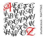 calligraphic letters vector... | Shutterstock .eps vector #96477065