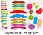 collection of colorful stickers ... | Shutterstock .eps vector #96484109