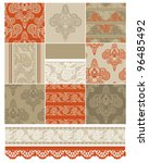 indian inspired textile... | Shutterstock .eps vector #96485492