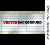 vector blank billboard | Shutterstock .eps vector #96489026