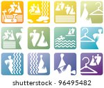 icon symbols for fitness club | Shutterstock .eps vector #96495482