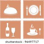set napkin with restaurant... | Shutterstock .eps vector #96497717