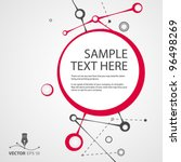 vector abstract background for... | Shutterstock .eps vector #96498269