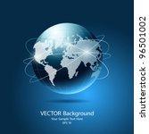 modern globe network blue... | Shutterstock .eps vector #96501002