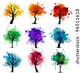 Abstract Colorful Tree...