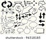 a hand drawn arrows set | Shutterstock .eps vector #96518185