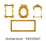 frame of golden wood  isolated... | Shutterstock . vector #96519667