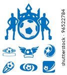 football and soccer symbols ... | Shutterstock .eps vector #96522784
