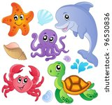 sea fishes and animals...