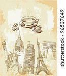 set of travel | Shutterstock .eps vector #96537649